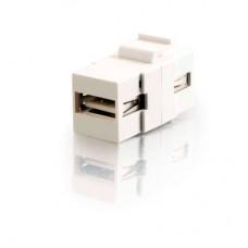 C2G - 28748 - Snap-In USB A/A Female Keystone Module - White