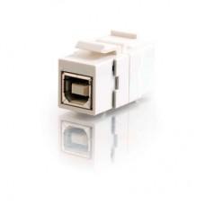 C2G - 28749 - Snap-In USB B/B Female Keystone Module - White