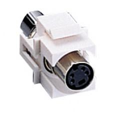 C2G - 03823 - Snap-In S-Video Keystone Module White