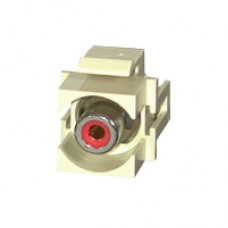 C2G - 28742 - Snap-In Red RCA Keystone Module Ivory