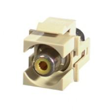 C2G - 28744 - Snap-In Yellow RCA Keystone Module Ivory