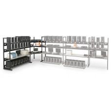 "KENDALL HOWARD - 7100-1-100-48 - 4 Post 48"" Performance Plus LAN Station"