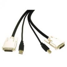 C2G - 14177 - 6ft DVI Dual Link/USB 2.0 KVM Cable
