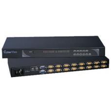 Austin Hughes CyberView - CV-S801 - Combo DB-15 KVM 8-port-1 Consoles